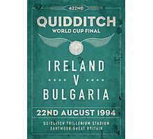 Weathered 1994 Quidditch World Cup Final Photographic Print