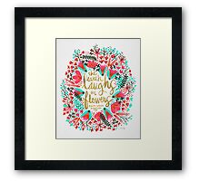 The Earth Laughs in Flowers – Pink & Gold Framed Print