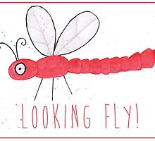 Dragon Fly Valentines/Greetings Card by Francesca  Fearnley