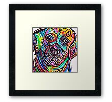 Lovable LAB Framed Print