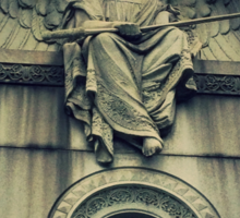 Angel at Greenwood Cemetery, Brooklyn Sticker