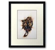 Burnout: Rawr Framed Print