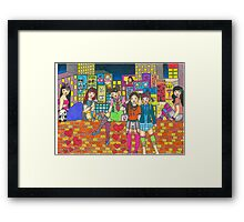 Harijuku Girls Framed Print
