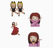 dancing, salsa and sassy girl emojis ♡  by shadowmoses
