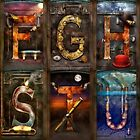 Steampunk -  Alphabet - Banner Version Complete by Mike  Savad