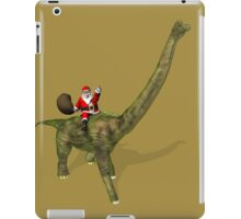Santa Claus Riding On Brachiosaurus iPad Case/Skin