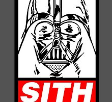 STAR WARS - SITH OBEY (WHITE) by WiseOut