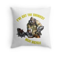 Meat Bicycle Throw Pillow