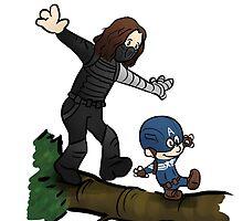 Steve and Bucky by ancaleon