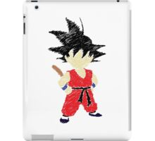 Kid Goku Drawing iPad Case/Skin