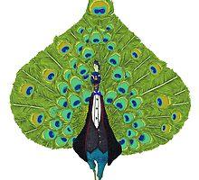 peacock  by Jiaqihe