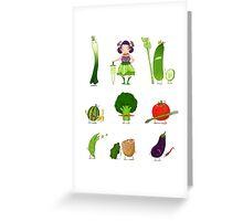 Veggie Army Greeting Card