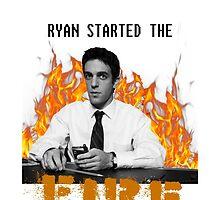 The Office- Ryan Started the Fire Phone Case by breakingbrett