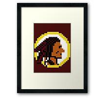 Throwback Redskins 8Bit - 3squire Framed Print
