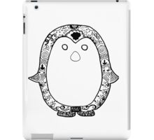 Hipster Penguin Zentangle iPad Case/Skin