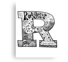 Hipster Rutgers University Zentangle Canvas Print