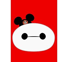 Baymax Head with Mickey Mouse Ears Photographic Print