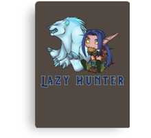 Lazy Hunter Canvas Print