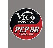 Vico Motor Oil Photographic Print