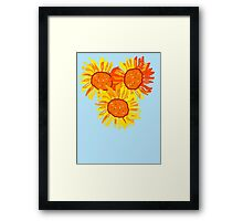 SUNNY SUNFLOWERS Framed Print