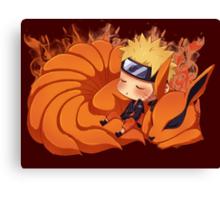 Sleeping Naruto Canvas Print