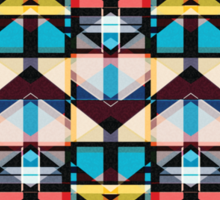 Colorful Abstract Weave Pattern Sticker