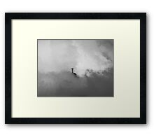 Christ The Redeemer in the Clouds Framed Print