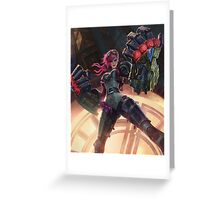 Vi League of Legends Greeting Card