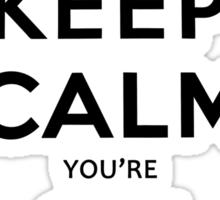 KEEP CALM YOU'RE ON TV Sticker