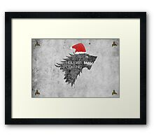 Thrones Christmas: Holidays are Coming Framed Print
