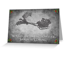 Skyrim Christmas Card: Watch the Skies Traveler Greeting Card