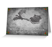 Skyrim Christmas Card: Watch the Skies Traveler Greeting Card
