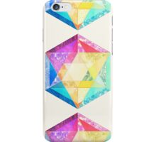 Retro Rainbow Patchwork Hexagon iPhone Case/Skin