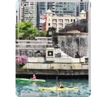Kayaking on the Chicago River Near Centennial Fountain iPad Case/Skin
