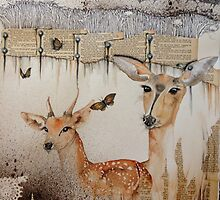 doe and fawn by chrissy carter