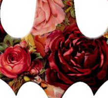 Floral Batman Sticker