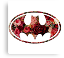 Floral Batman Canvas Print