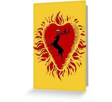 Stannis Baratheon Sigil - Firey Heart Greeting Card