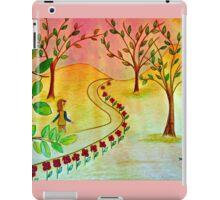 An autumn walk at dusk iPad Case/Skin