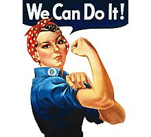 We Can Do It - War Poster Photographic Print