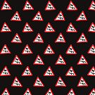 Road sign - very slippery when wet wallpaper by stuwdamdorp