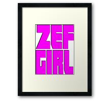 Zef Girl Framed Print