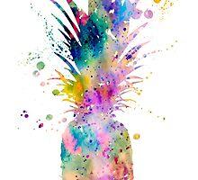 Pineapple by Watercolorsart