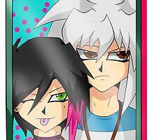 Skylar X Bakura Selfie by GingerRoyalty