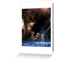 Searching through the darkness below Greeting Card