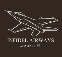 INFIDEL AIRWAYS T-Shirt by Ron Hannah