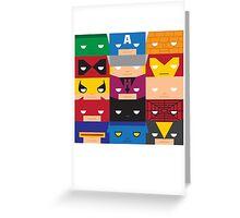 SuperBlocks - Marvel Greeting Card