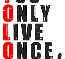 You only live once, said no kitty, ever. YOLO by bogratt