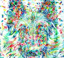 GERMAN SHEPHERD.1 - watercolor portrait by lautir