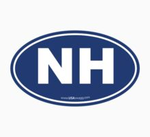 New Hampshire NH Euro Oval BLUE Kids Clothes